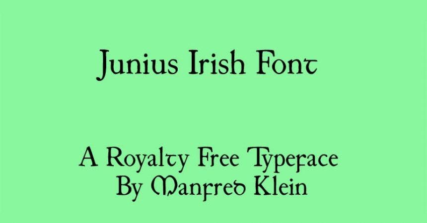 Junius Irish Font Family Free Download