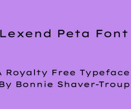 Lexend Peta Font Family Free Download