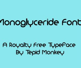 Monoglyceride Font Family Free Download