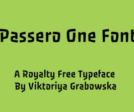 Passero One Font Family Free Download
