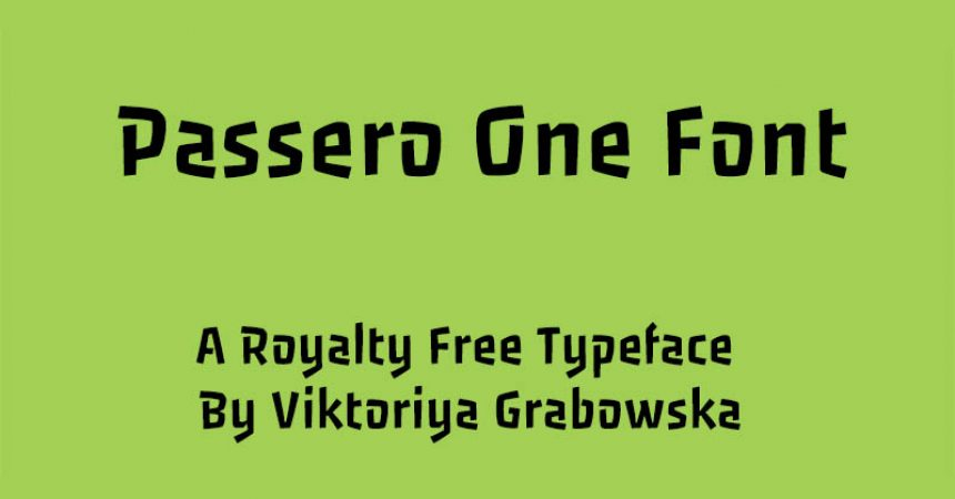 Passero One Font Family Free Download