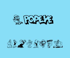 Popeye Font Family Free Download