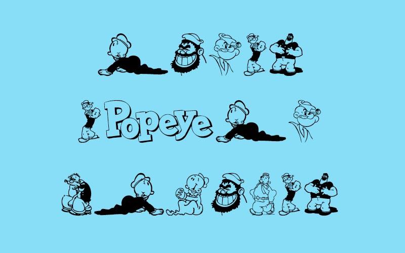 Popeye Font Free Download