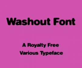 Washout Font Family Free Download