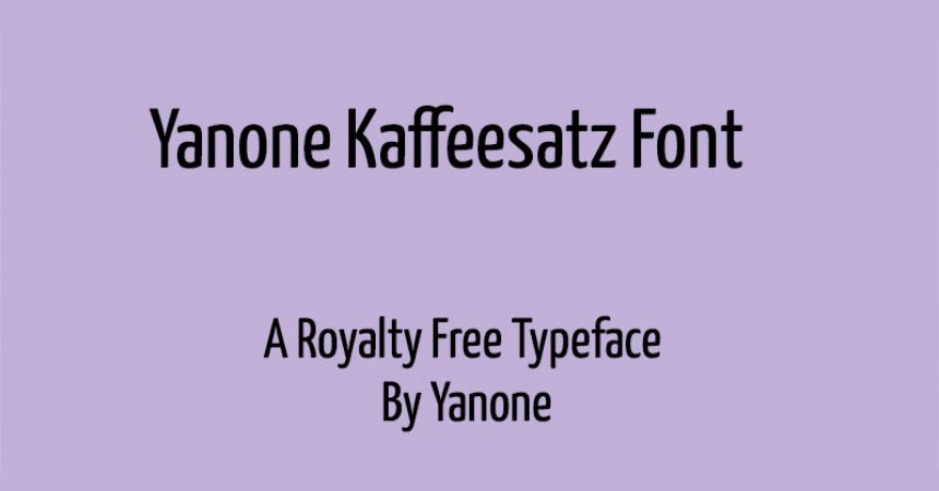 Yanone Kaffeesatz Font Family Free Download