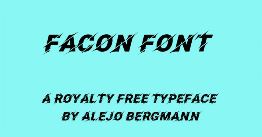 Facon Font Family Free Download