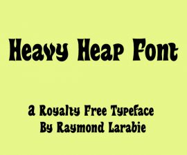 Heavy Heap Font Family Free Download