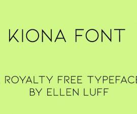 Kiona Font Family Free Download