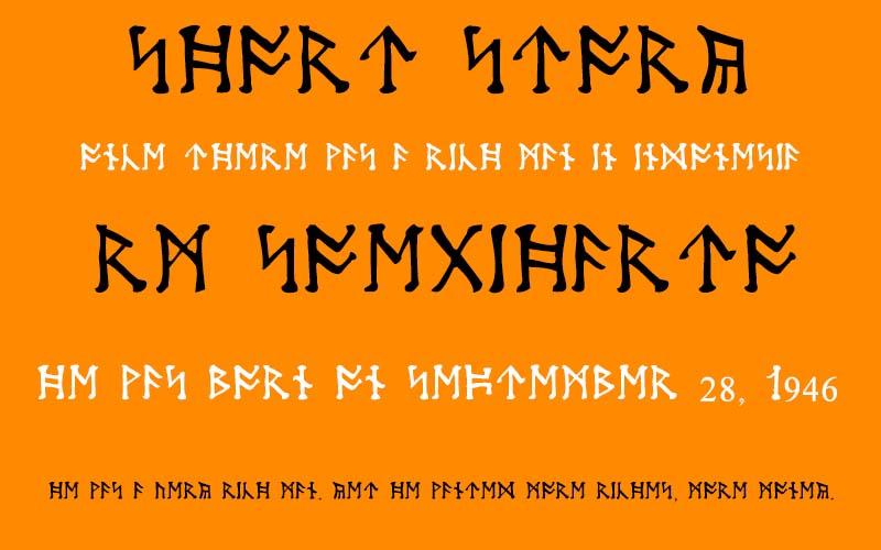 Moon Runes Font Free Download