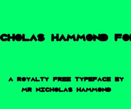 Nicholas Hammond Font Family Free Download