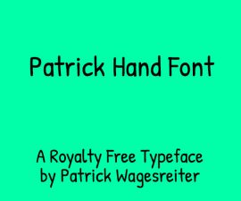 Patrick Hand Font Family Free Download