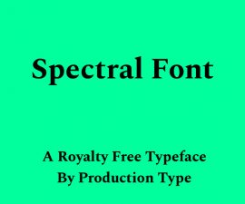 Spectral Font Family Free Download