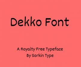 Dekko Font Family Free Download