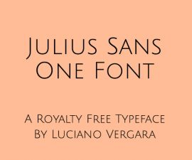 Julius Sans One Font Family Free Download