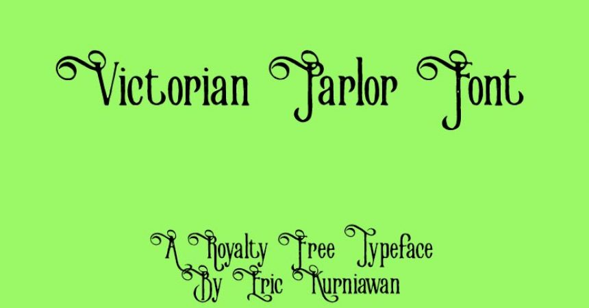 Victorian Parlor Font Family Free Download